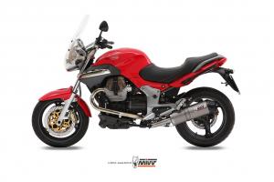 MIVV Slip-On OVAL Titanium MOTO GUZZI BREVA 1100 2005-2011