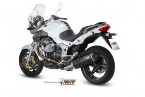 MIVV Slip-On SPEED EDGE RVS MOTO GUZZI BREVA 1100 2005-2011
