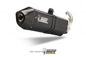MIVV Volledig systeem SPEED EDGE RVS KYMCO XCITING 500 2013-2014