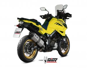 MIVV Slip-On SPEED EDGE RVS SUZUKI DL V-STROM 1000 / XT 2014 >