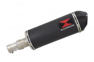 BWE Slip-On Zwart RVS Ovaal 300mm voor R 1150 Rockster 2000 2001 2002 2003 2004