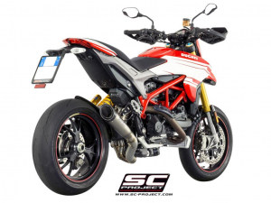 SC-Project uitlaat S1 with 2-1 link for valve removal voor DUCATI HYPERMOTARD 939 2016-2018-SP