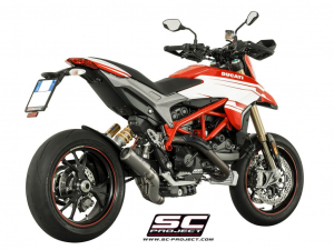 SC-Project uitlaat CR-T with 2-1 link for valve removal voor DUCATI HYPERMOTARD 939 2016-2018-SP