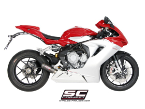 SC-Project uitlaat CR-T voor MV AGUSTA F3 675 2011-2016 en F3 800 2013-2016-EAS ABS-RC