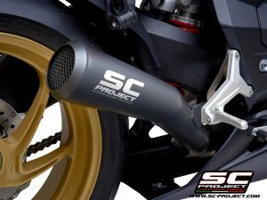 SC-Project uitlaat 70's Conical voor MV AGUSTA Superveloce 800 2019-2021