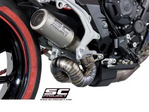 SC-Project uitlaat CR-T voor MV AGUSTA DRAGSTER 800