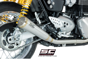 SC-Project uitlaat 70's Conical voor TRIUMPH THRUXTON 1200 2016-R