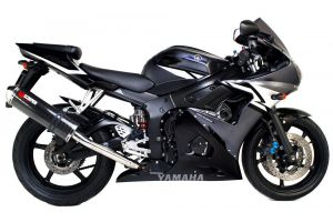 Scorpion Slip-On uitlaat Factory Oval Carbon voor Yamaha YZF-R6