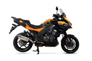 Scorpion Slip-On uitlaat Serket Parallel RVS voor Kawasaki Versys 1000 / SE / Tourer / GT