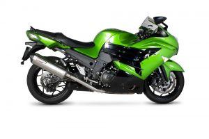 Scorpion Slip-On uitlaat Serket Parallel RVS voor Kawasaki ZZR1400