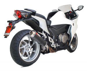 Scorpion Slip-On uitlaat Factory Oval Carbon voor Honda VFR1200 Geen koffers