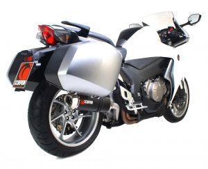 Scorpion Slip-On uitlaat Factory Oval Carbon voor Honda VFR1200 Met koffers