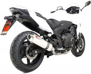 Scorpion Slip-On uitlaat Factory Oval RVS voor Honda CBF1000