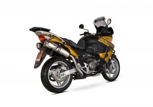 Scorpion Slip-On uitlaat Factory Oval RVS voor Honda XL1000 V Vardero