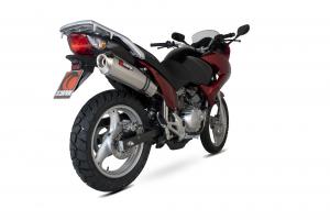 Scorpion Slip-On uitlaat Factory Oval RVS voor Honda XL125 Varadero