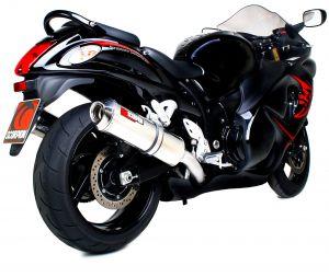 Scorpion Slip-On uitlaat Factory Oval RVS voor Suzuki GSX1300 R Hayabusa