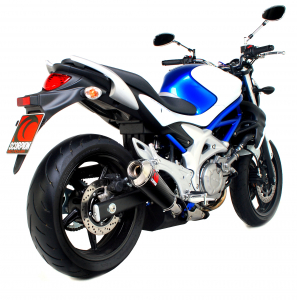 Scorpion Slip-On uitlaat Power Cone Carbon voor Suzuki Gladius 650