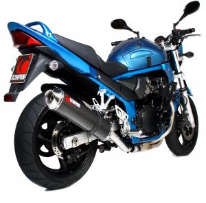 Scorpion Slip-On uitlaat Factory Oval Carbon voor Suzuki GSF600 Bandit / GSF650 Bandit