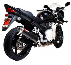 Scorpion Slip-On uitlaat Factory Oval Carbon voor Suzuki GSF1250 Bandit