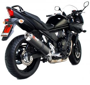 Scorpion Slip-On uitlaat Factory Oval Carbon voor Suzuki GSF650 Bandit