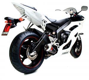Scorpion Slip-On uitlaat Power Cone Carbon voor Yamaha YZF-R6