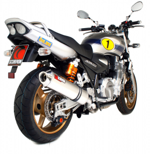 Scorpion Slip-On uitlaat Factory Oval RVS voor Yamaha XJR1300