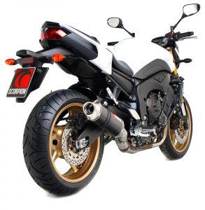 Scorpion Slip-On uitlaat Factory Oval Carbon voor Yamaha FZ8 / Fazer 8