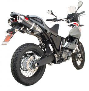 Scorpion Slip-On uitlaat Factory Oval Carbon voor Yamaha XT660 Tenere / XT660 Z Tenere
