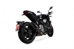 Scorpion Slip-On Red Power RVS zwart voor Honda CB1000 R