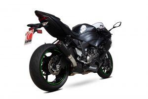 Scorpion Slip-On Red Power RVS zwart voor Kawasaki Ninja ZX-6R / Ninja ZX-636