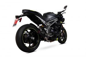 Scorpion Slip-On Red Power RVS zwart voor Triumph Speed Triple R / Speed Triple S / Speed Triple RS