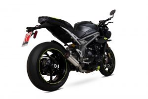 Scorpion Slip-On uitlaat Red Power RVS voor Triumph Speed Triple R / Speed Triple S / Speed Triple RS