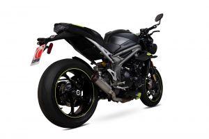 Scorpion Slip-On uitlaat Red Power Titanium voor Triumph Speed Triple R / Speed Triple S / Speed Triple RS