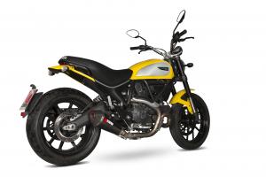 Scorpion Slip-On uitlaat Serket Taper Carbon voor Ducati Scrambler 800