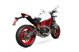 Scorpion Slip-On uitlaat Serket Taper Carbon voor Ducati Monster 797 / 797 +