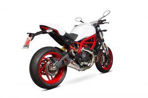 Scorpion Slip-On uitlaat Serket Taper Titanium voor Ducati Monster 797 / 797 +