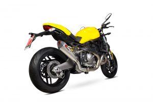 Scorpion Slip-On uitlaat Serket Taper Titanium voor Ducati Monster 821