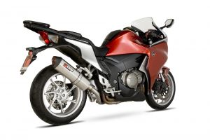 Scorpion Slip-On uitlaat Serket Parallel RVS voor Honda VFR1200 Met koffers