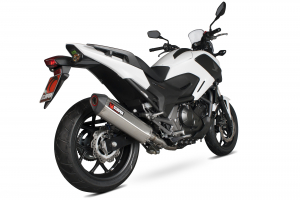 Scorpion Slip-On uitlaat Serket Parallel RVS voor Honda NC700 S / NC700 X