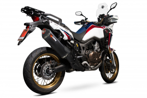 Scorpion Slip-On Serket Parallel RVS zwart voor Honda CRF1000 L