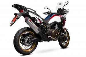 Scorpion Slip-On uitlaat Serket Parallel RVS voor Honda CRF1000 L