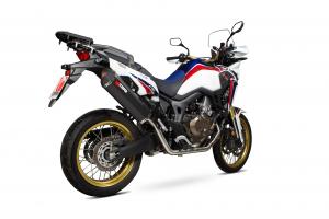 Scorpion Volledig systeem Serket Parallel RVS zwart voor Honda CRF1000 L