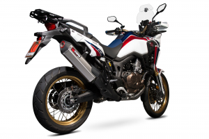Scorpion Slip-On uitlaat Serket Parallel Titanium voor Honda CRF1000 L