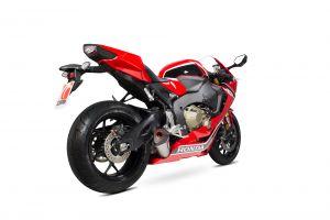 Scorpion Slip-On uitlaat Serket Taper Titanium voor Honda CBR1000 RR Fireblade