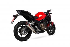 Scorpion Slip-On uitlaat Serket Taper Titanium voor Honda CB500 F / CB500 X