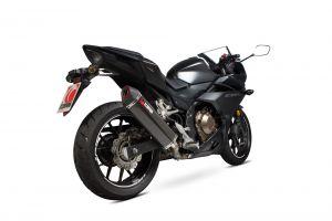 Scorpion Slip-On uitlaat Serket Parallel Carbon voor Honda CBR500 R
