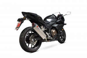 Scorpion Slip-On uitlaat Serket Parallel Titanium voor Honda CBR500 R
