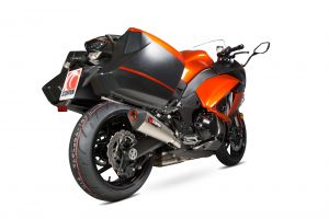 Scorpion Slip-On uitlaat Serket Taper Titanium voor Kawasaki Z1000 SX