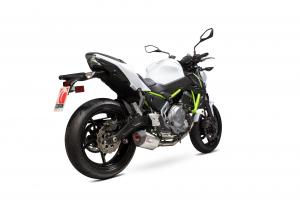 Scorpion Volledig systeem Serket Parallel RVS voor Kawasaki Z650