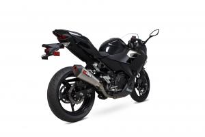 Scorpion Slip-On uitlaat Serket Taper Titanium voor Kawasaki Ninja 400